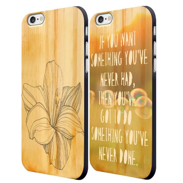 funda personalizada de madera para iPhone 6 y iphone 6S