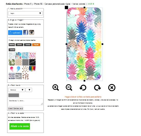personaliza tu carcasa para iPhone 5(S) y iPhone SE