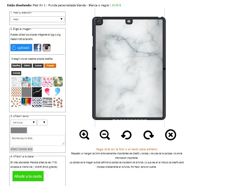 carcasas personalizadas iPad air 1