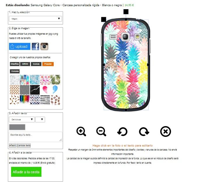 funda personalizada Samsung Galaxy core