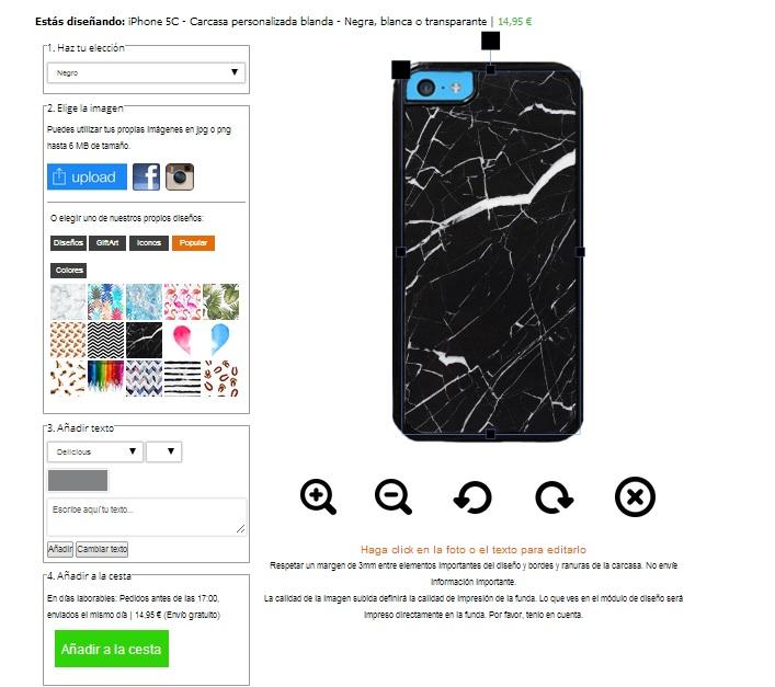 Funda personalizada iPhone 5C