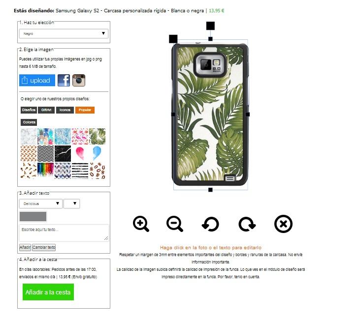 funda personalizada Samsung Galaxy S2