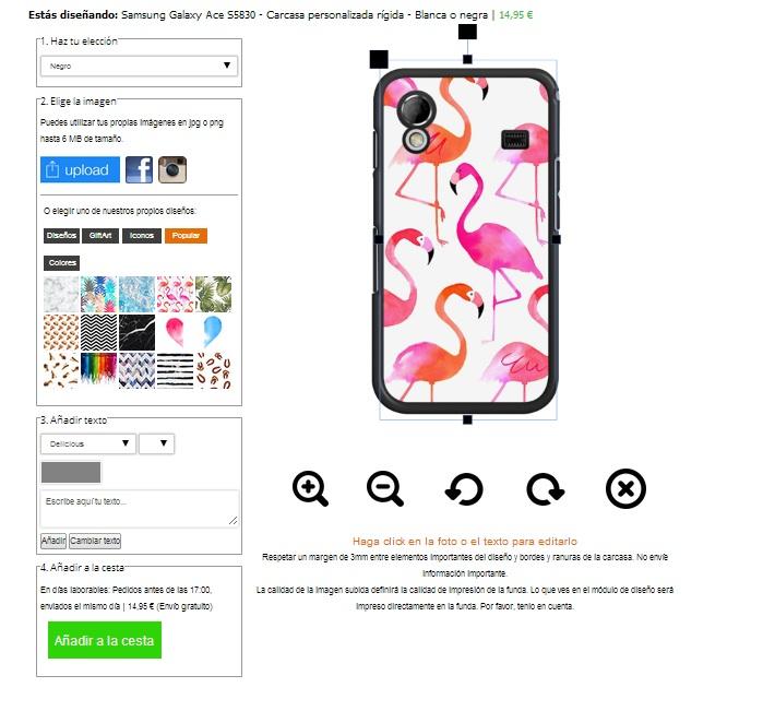 Funda personalizada Samsung Galaxy Ace