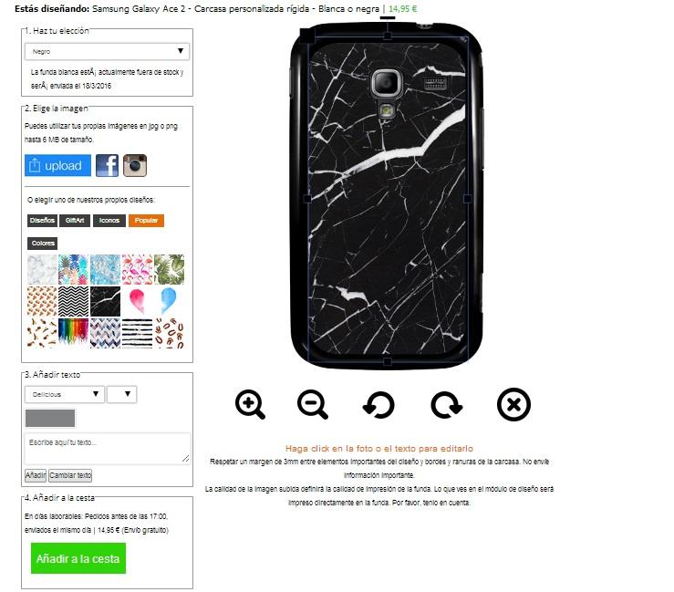 Funda personalizada para Samsung Galaxy Ace 2