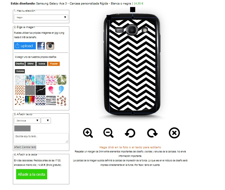 funda personalizada Samsung Galaxy Ace 3