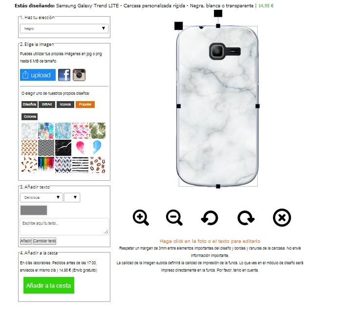 carcasas personalizadas Samsung Galaxy Trend Lite
