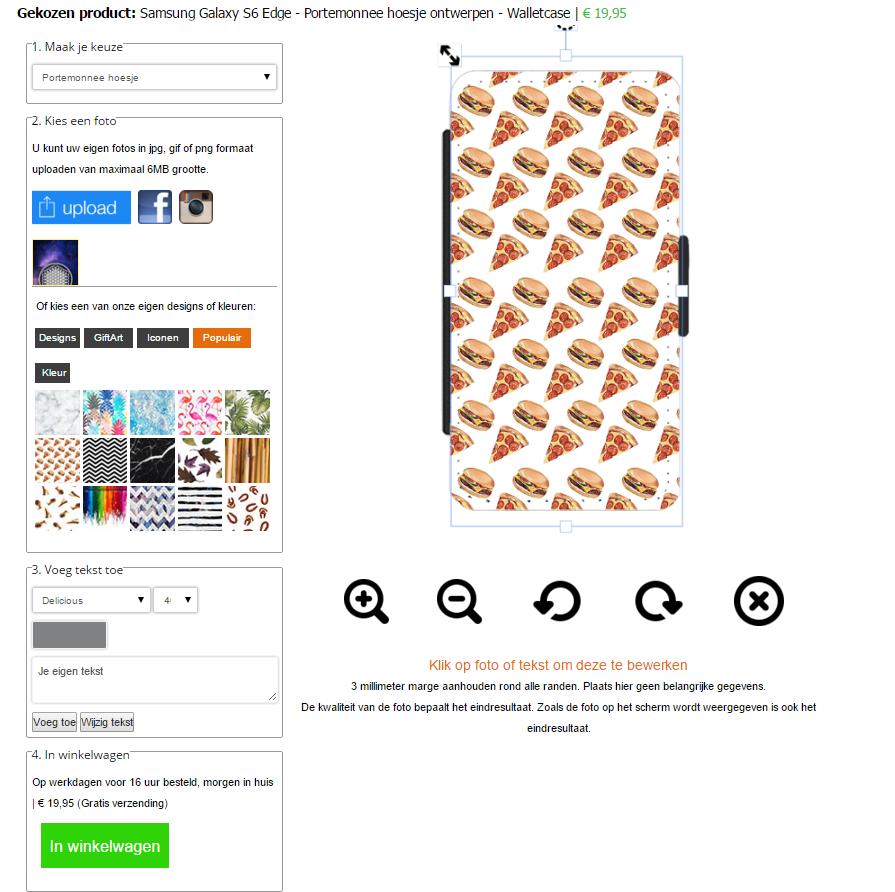 fundas personalizadas flip cover Samsung Galaxy S6 Edge