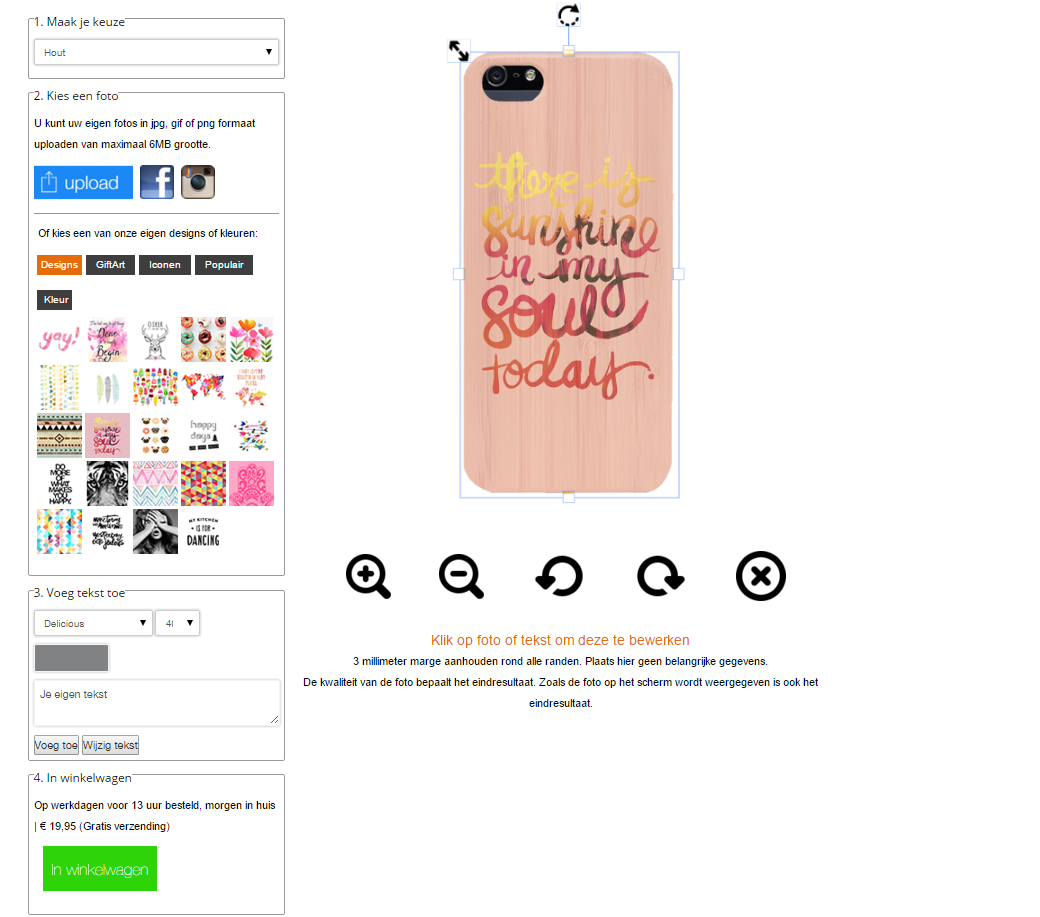 funda personalizada de madera para iPhone 5(S) y iPhone SE