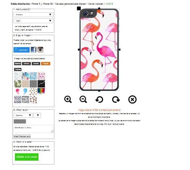 carcasas personalizadas blandas iPhone 5(S) y iPhone SE