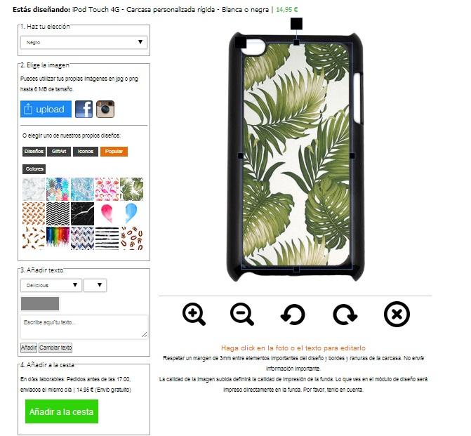 iPod touch 4G funda personalizada
