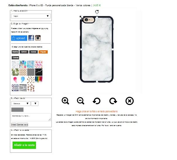 Personaliza tu carcasa para iPhone 6 o 6S