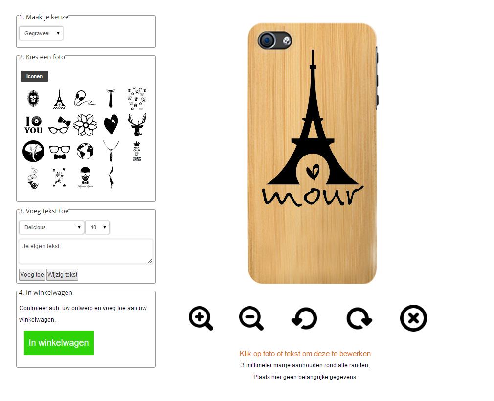 carcasas personalizadas para iPhone 5(S) y iPhone SE de madera