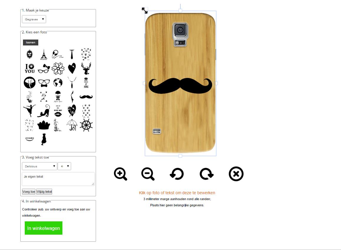 carcasas de madera personalizadas para Samsung Galaxy S5