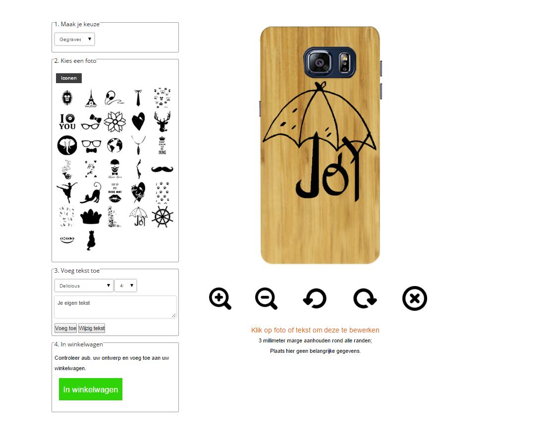 carcasas de madera personalizadas para Samsung Galaxy S6