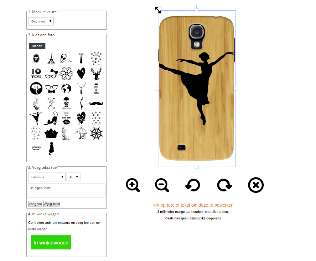 carcasas de madera personalizadas para Samsung Galaxy S4