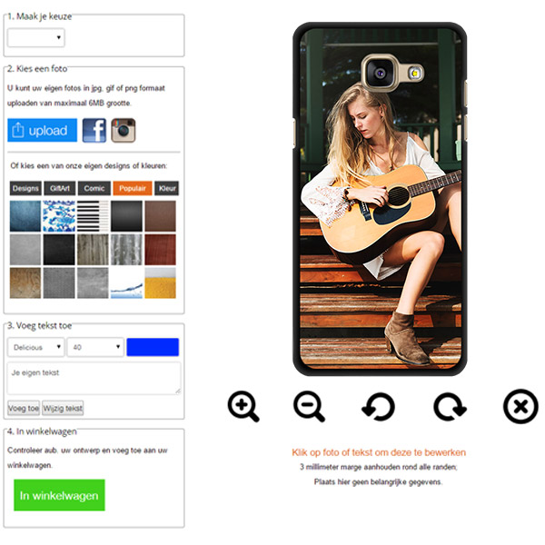 Personaliza tu carcasa Galaxy A3