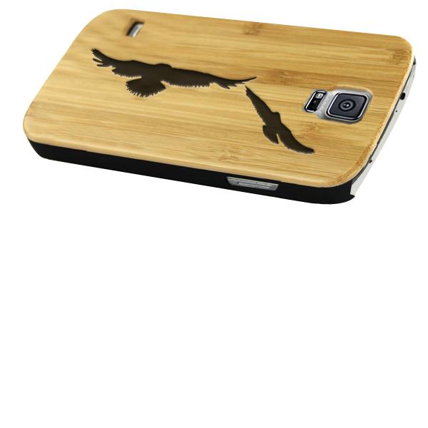 funda de madera personalizada para samsung galaxy s5