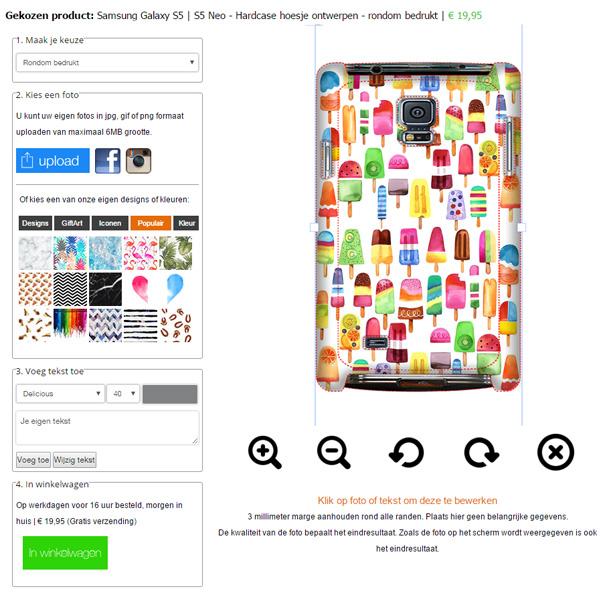 funda personalizada Samsung Galaxy S5, neo