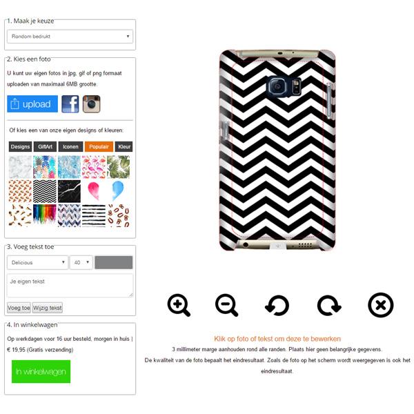 funda personalizada Samsung Galaxy S7 Edge con bordes impresos