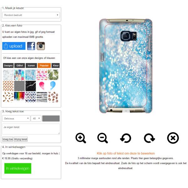 Personaliza tu carcasa para Samsung Galaxy S7 con bordes impresos