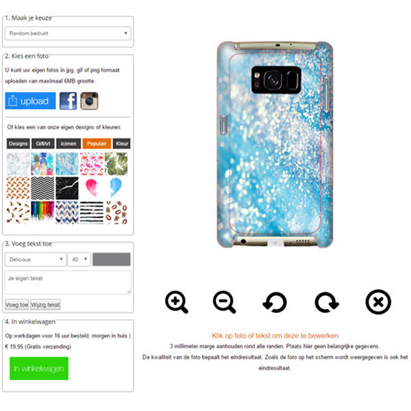 Carcasa personalizada Samsung Galaxy S8 PLUS rígida