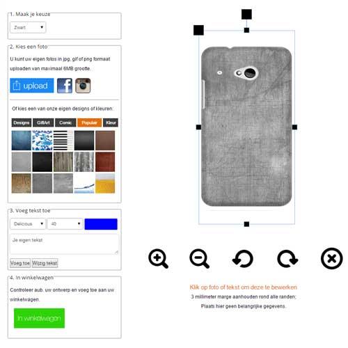 Funda HTC One Mini 2 - Carcasa Dura Hardcase en Negro