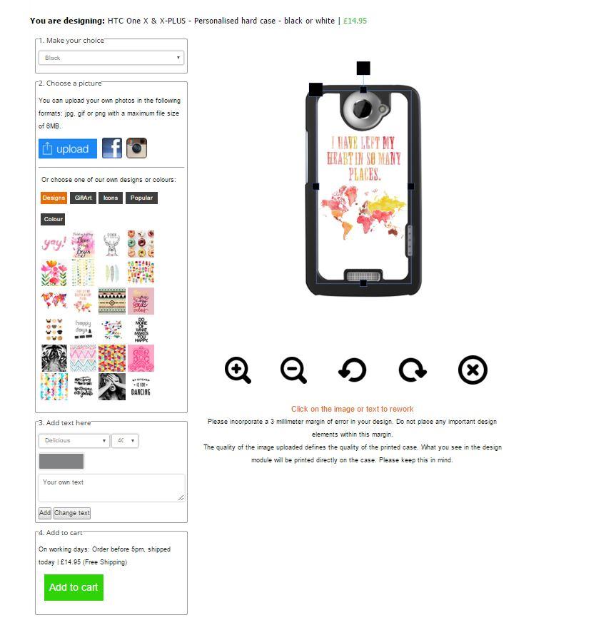 HTC One X & X-PLUS - Funda Dura Personalitzada - Negro o Blanco