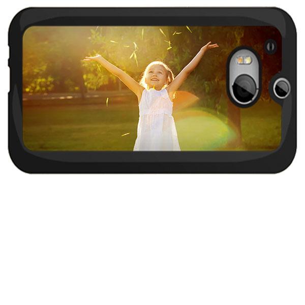 Funda HTC One M8 Carcasa Dura Personalizada en Negro