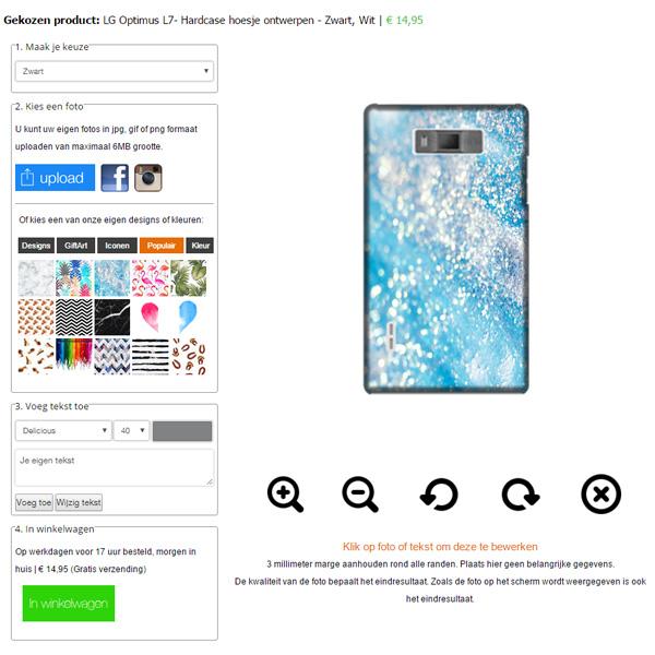 Carcasa personalizada LG Optimus L7