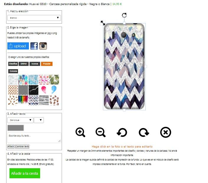 Huawei G510 carcasa personalizada