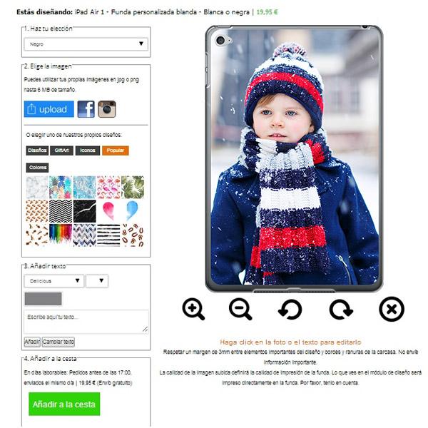 ipad air funda personalizada blanda con foto