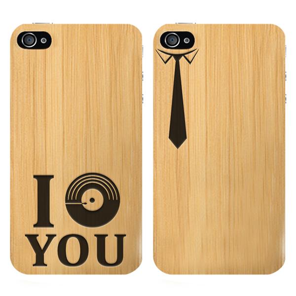 funda de madera personalizada para iPhone 4 y iPhone 4S