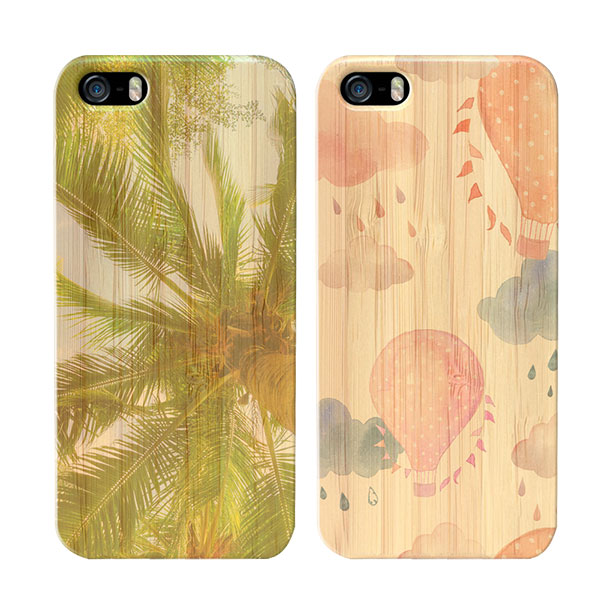 carcasas personalizas de madera iPhone 5(S) y iPhone SE