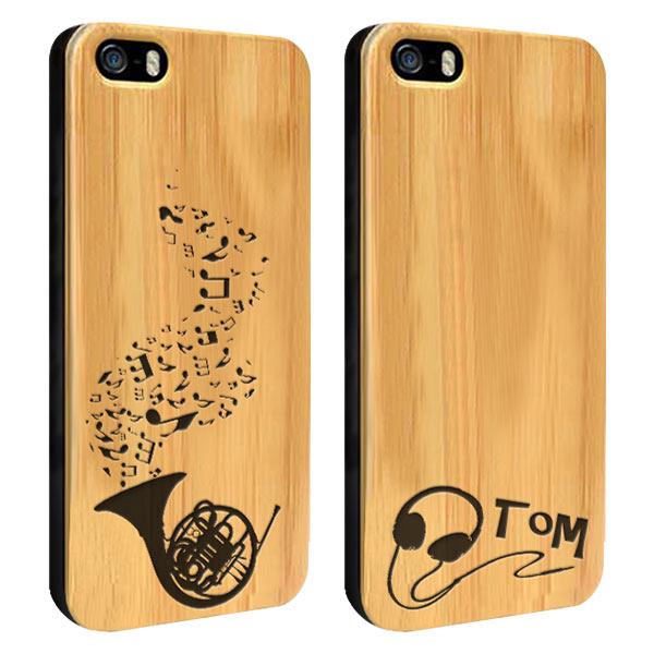 fundas personalizadas para iPhone 5(S) y iPhone SE de madera