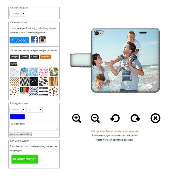 carcasa personalizada para iPhone 6S con bordes impresos y tarjetero