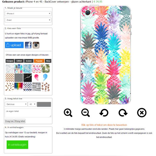 iPhone 4 o 4S - BackCover Personalizada - Tapa Trasera de Cristal