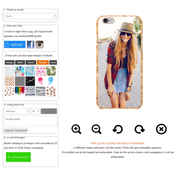 personaliza tu carcasa de corcho para iPhone 6 y iphone 6S