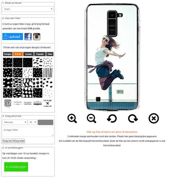 carcasa personalizada LG K10 rígida con foto