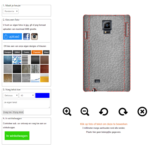 funda personalizada Samsung Galaxy Note 4 phone