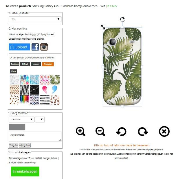 Carcasa personalizada Samsung Galaxy Gio