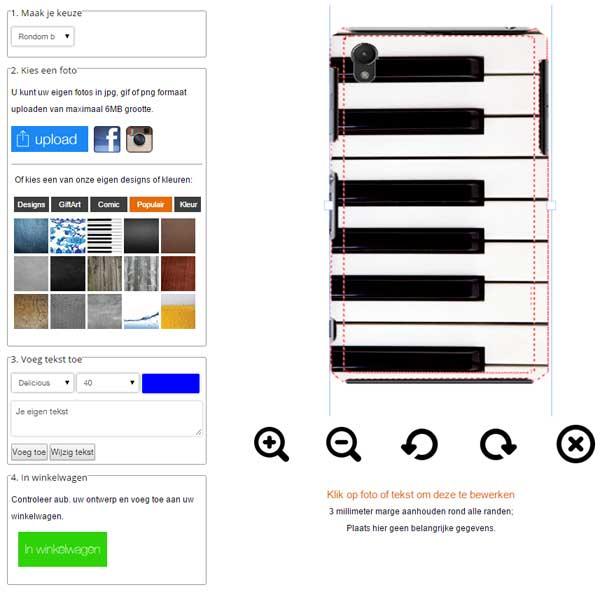 Sony Xperia Z3 carcasa personalizada bordes impresos