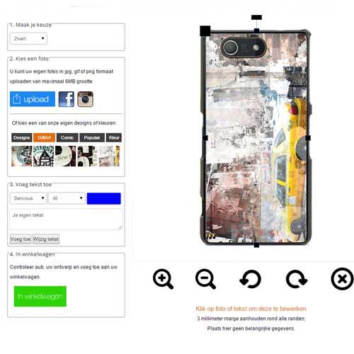 Xperia Z3 Compact hoesje maken met foto
