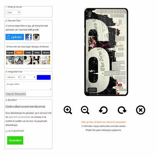 Funda Huawei Ascend P6 Carcasa Suave Personalizada Softcase - Negro o Blanco